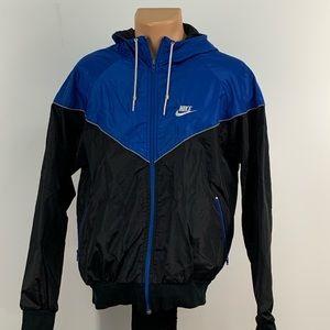 Vintage Nike Blue Tag Blue and Black WindBreaker